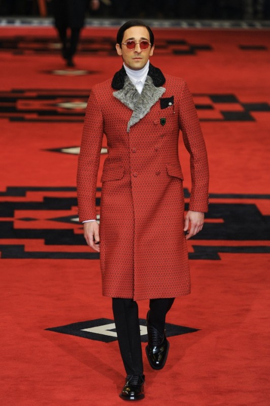 Adrien Brody for Prada