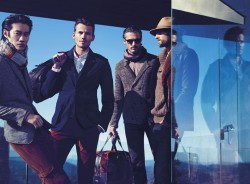 Philip Huang, Alex Lundqvist, Ben Hill & RJ Rogenski for Hugo Boss Black FW12