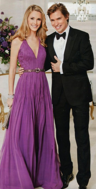 Astrid Klisans and Carlos Baute