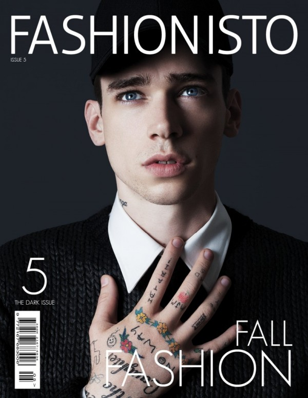 Cole Mohr on the cover of Fashionisto Magazine