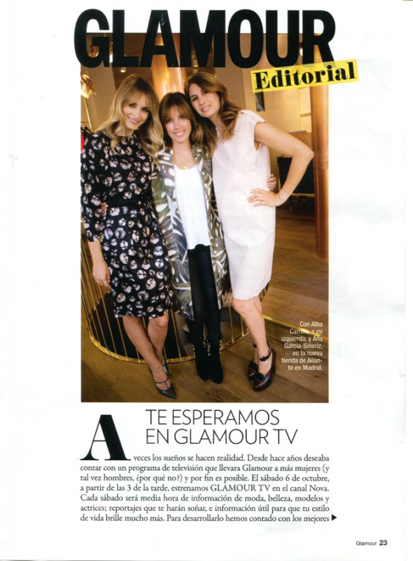 Alba Carrillo and Ana Garcia-Siñeriz in Glamour Tv_2