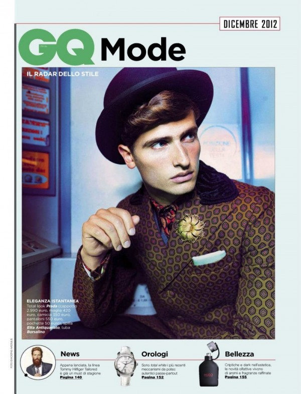 Tom Warren GQ Italia Dec 2012