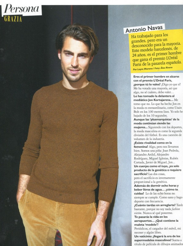 Antonio Navas in Grazia Magazine #3 February 2013 by Álex Rivera