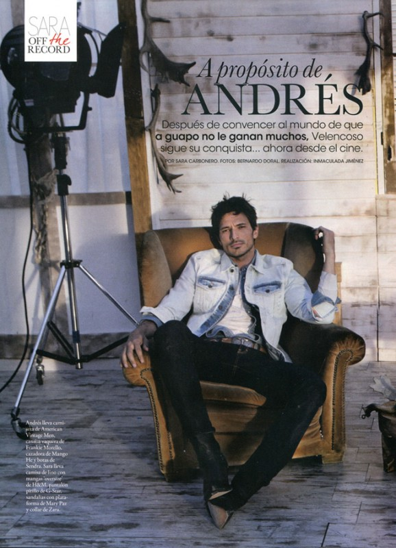 Andrés Velencoso in Elle Spain 1