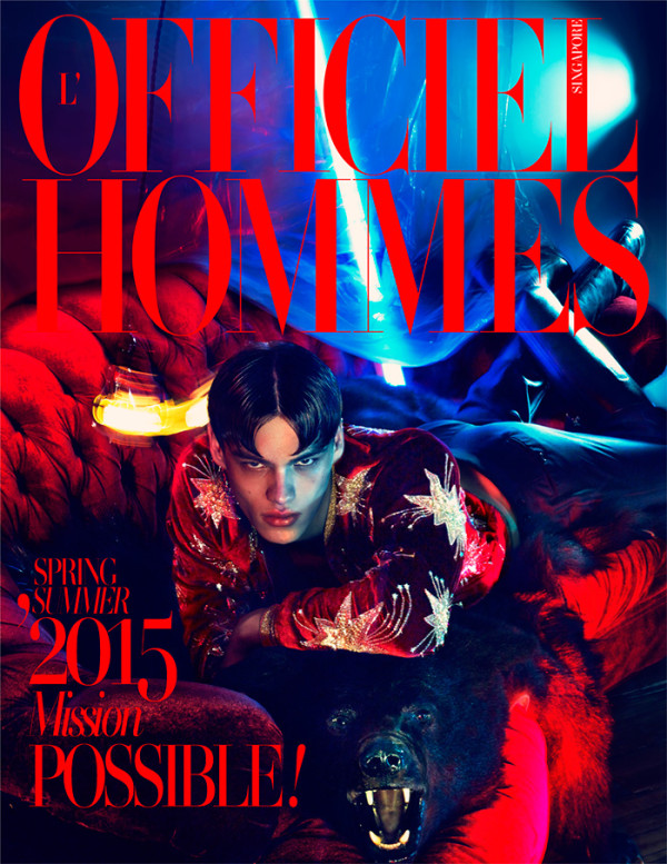 LOfficiel-Hommes-Singapore-Spring-Summer-2015-Cover-Filip-Hrivnak