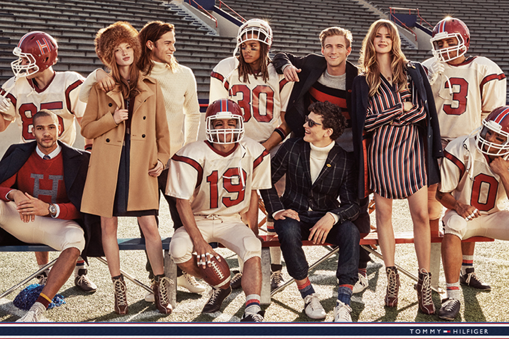 "Tommy Hilfiger's fall ad campaign featuring ""Team Hilfiger."""