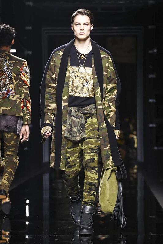 Balmain, Menswear, Fall Winter 2017 Fashion Show in Paris