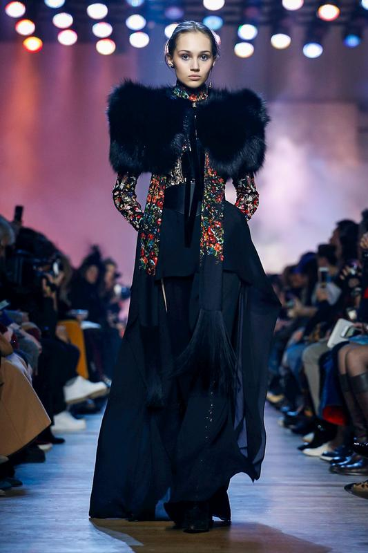 Elie Saab Fashion Show, Ready To Wear Collection Fall Winter 2018 in Paris