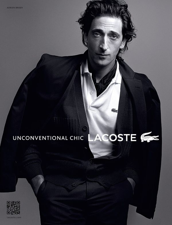 Adrien Brody for Lacoste